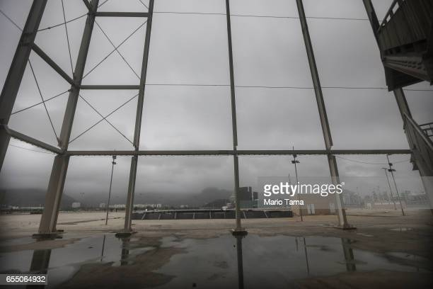 A view from the mostly abandoned Olympic Aquatics stadium at the Olympic Park on March 18 2017 in Rio de Janeiro Brazil Seven months after the Rio...