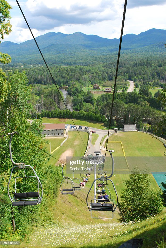 View from the Olympic ski jump in Lake Placid New York The ski jump was built for the 1980 Winter Olympics