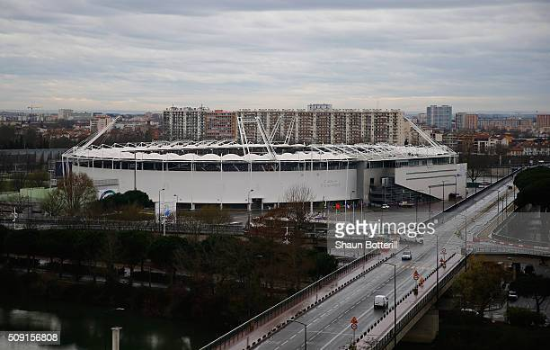 A view from the outside of Stadium Municipal on February 9 2016 in Toulouse France