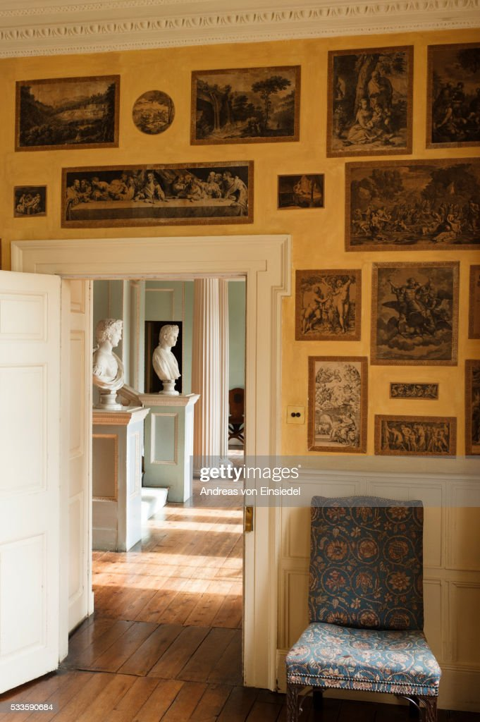 View from the Print Room into the Staircase Hall, The Vyne, Hampshire.