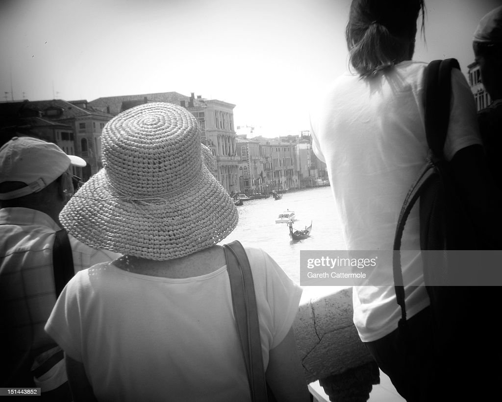 A view from the Rialto Bridge of the Grand Canal in Venice during the 69th Venice Film Festival on September 7, 2012 in Venice, Italy.