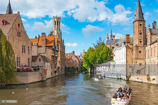 View from the Rozenhoedkaai in Brugge