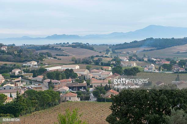 View from the ruins of a mediaeval castle on top of the village of ChateauneufduPape which is in the Vaucluse department ProvenceAlpesC��te d'Azur...