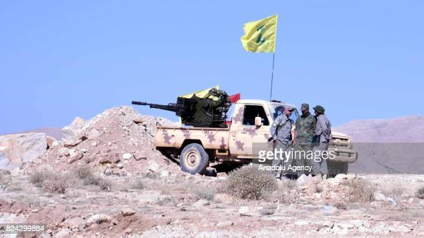 A view from the site where 6daylong clashes happened between Hezbollah and Hay'at Tahrir alSham armed groups in Arsal town of Baalbek Lebanon on July...
