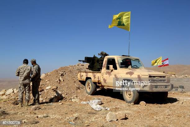 A view from the site where 6daylong clashes happened between Hezbollah and Hay'at Tahrir alSham armed groups during a guided press tour in Arsal town...