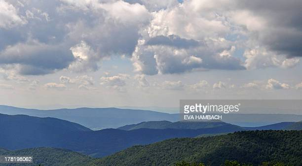 View from the Skyline Drive in the Shenandoah National Park near Sperryville along the Blue Ridge Mountains in Virginia August 25 2013