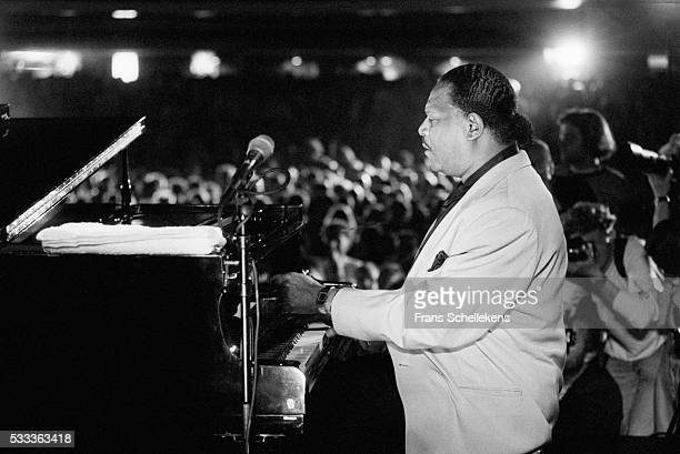 A view from the stage looking at the audience as McCoy Tyner piano performs on July 13th 1996 at the North Sea Jazz Festival in the Hague the...