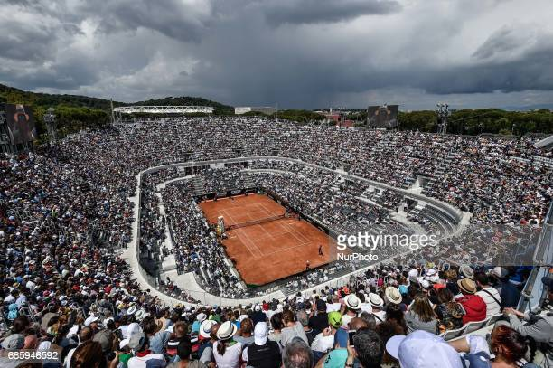A view from the top of Central Court during the match between Novak Djokovic and Juan Martin Del Potro during the ATP World Tour Masters 1000...