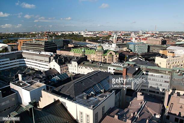 A view from the Torni Hotel over the rooftops of Helsinki