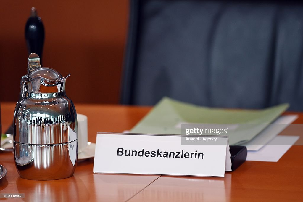 A view from the weekly German cabinet meeting at the Chancellery in Berlin, Germany on May 04, 2016.