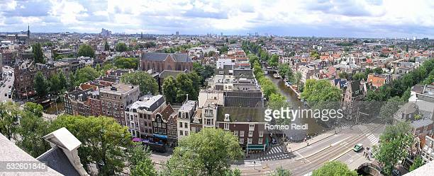 View from the Westerkerk - panorama