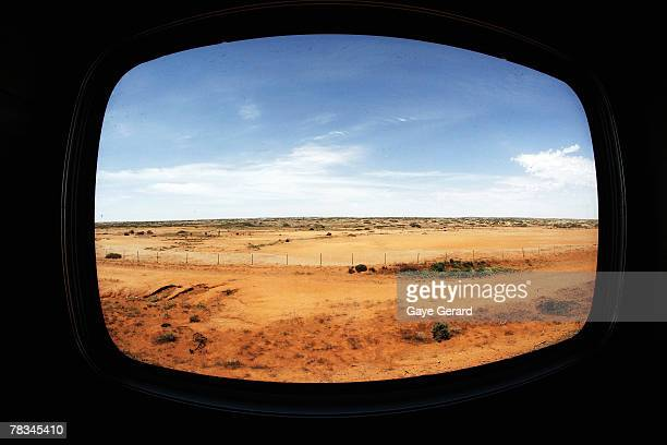 A view from the window of the train on the second day en route to Adelaide December 6 2007 in Adelaide Australia The Great Southern Railway's Indian...