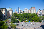 View from up high of Union Square Park, NYC