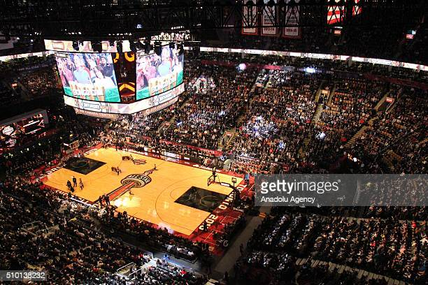 A view from Verizon Slam Dunk Contest within NBA AllStar Saturday Night at Air Canada Centre in Ontario Canada on February 13 2016