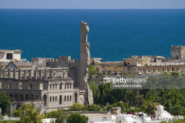 A view from 'Villa Somalia' the presidential palace in Mogadishu taken on November 23 2009 Somalia's embattled president appealed to the...