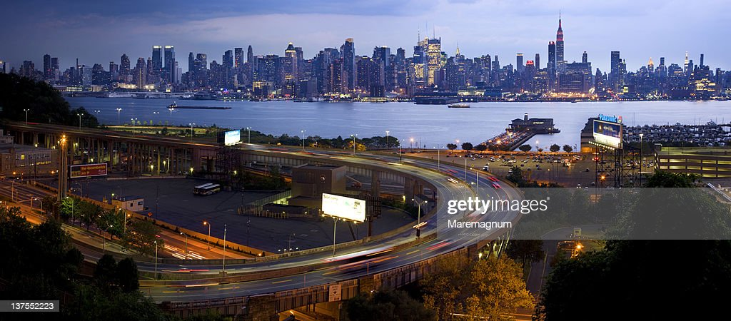 View from Weehawken near Lincoln Harbor,New Jersey : Stock Photo