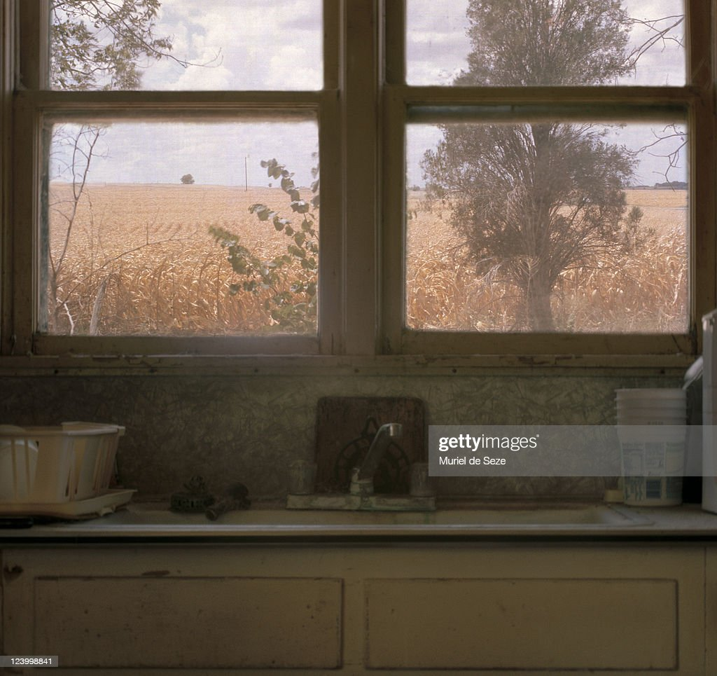 view from window in countryside : Stock Photo