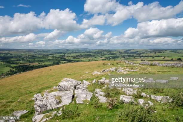 View from Wolfscote hill, Peak District, Derbyshire, England