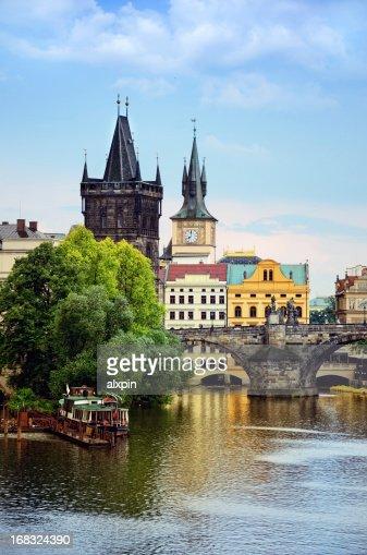 View if Charles Bridge in Prague