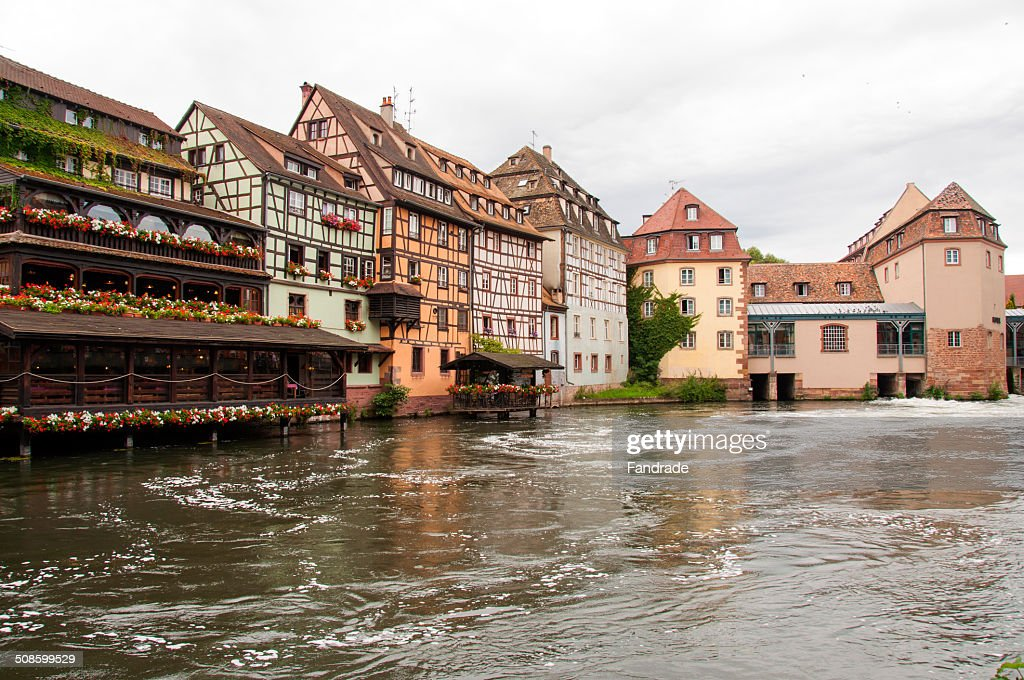View Ill River and the city of Strasbourg : Foto de stock