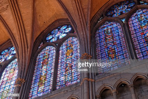 View in the Reims cathedral, France