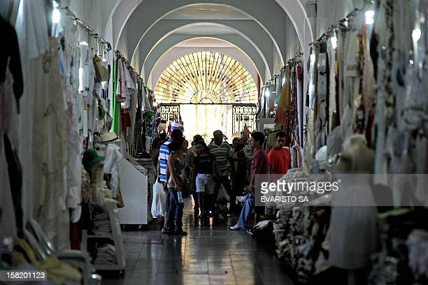 View inside a public market in Fortaleza Ceara State northeastern of Brazil on December 11 2012 Fortaleza will host the Confederations Cup next June...