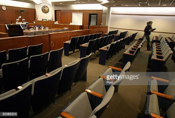 A view inside Courtroom one day before jury selection begins for the Michael Jackson child molestation trial at the Superior Court of California...