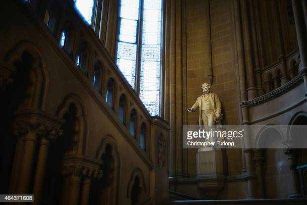 A view inside Manchester Town Hall after it was announced that local councils in Manchester will control their own National Health Service budget on...