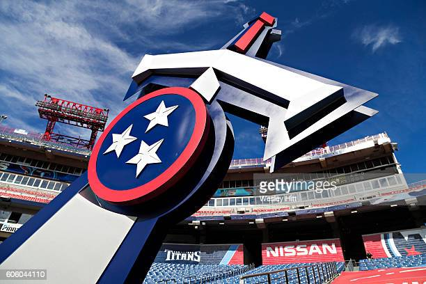 View inside Nissan Stadium before a game between the Tennessee Titans and the Minnesota Vikings on September 11 2016 in Nashville Tennessee The...
