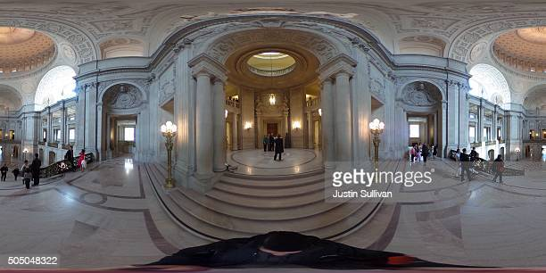 A 360 view inside of San Francisco City Hall on January 14 2016 in San Francisco California
