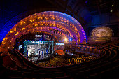 A view inside of the Roosevelt Auditorium Theatre prior to the start of the 2016 NFL Draft on April 28 2016 in Chicago Illinois
