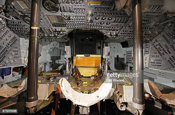 A view inside the Apollo 10 command module on May 23 2009 in London England The space capsule was flown around the moon in 1969 ahead of the Moon...