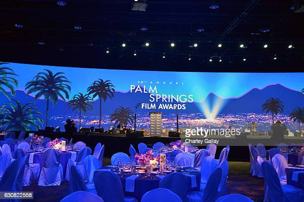 A view inside the ballroom during the 28th Annual Palm Springs International Film Festival Film Awards Gala at the Palm Springs Convention Center on...