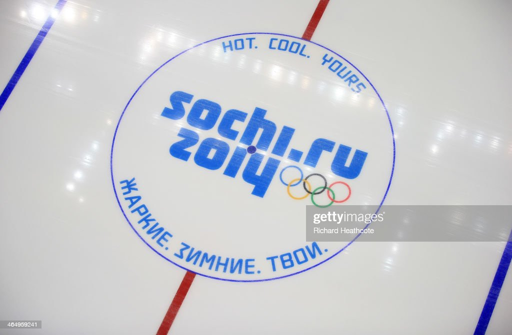 A view inside the Bolshoy Ice Dome where the Ice Hockey will take place in the Sochi 2014 Winter Olympic Park in the Costal Cluster on January 25...