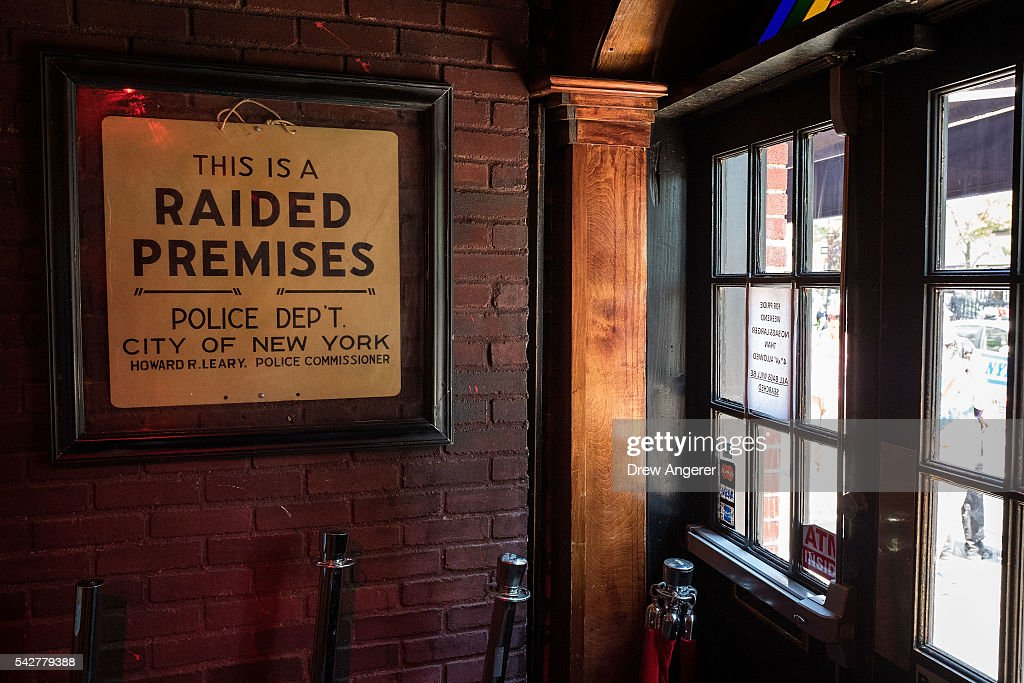 A view inside the front entrance at the Stonewall Inn on June 24, 2016 in New York City. President Barack Obama designated the Stonewall Inn and approximately 7.7 acres surrounding it as the first national monument dedicated 'to tell the story of the struggle for LGBT rights.' The tavern is considered the birthplace of the modern gay rights movement, where patrons fought back against police persecution in 1969.