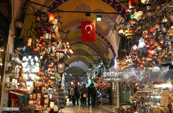 A view inside the Grand Bazaar a covered market that sells Carpets Gold Leather Denin Fabric and Silver during previews for the WTA Championships...
