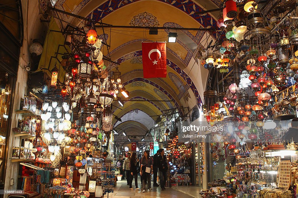 A view inside the Grand Bazaar one of the largest and oldest covered markets in the world with more than 58 covered streets and over 4000 shops which...