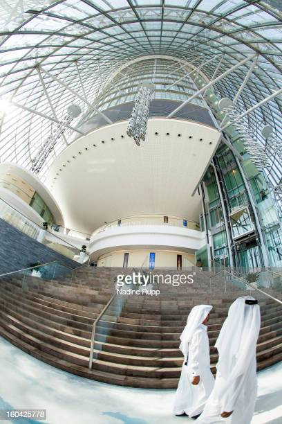 View inside the Khalifa Tower now called The Torch hotel is taken at the ASPIRE Academy for Sports Excellence on January 6 2013 in Doha Qatar ASPIRE...