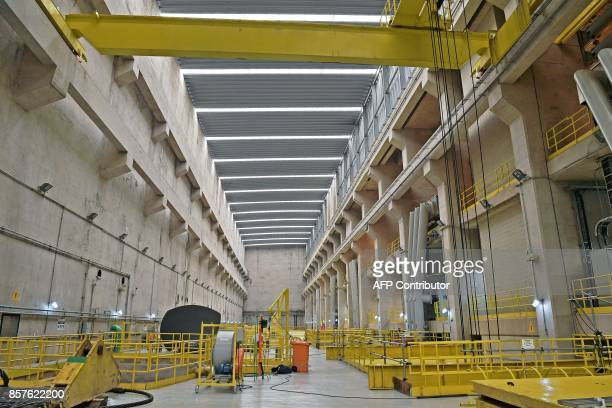 A view inside the Santo Antonio dam power station in Port Velho on September 22 2017 The mega dam located on the Madeira river in the Amazon is the...