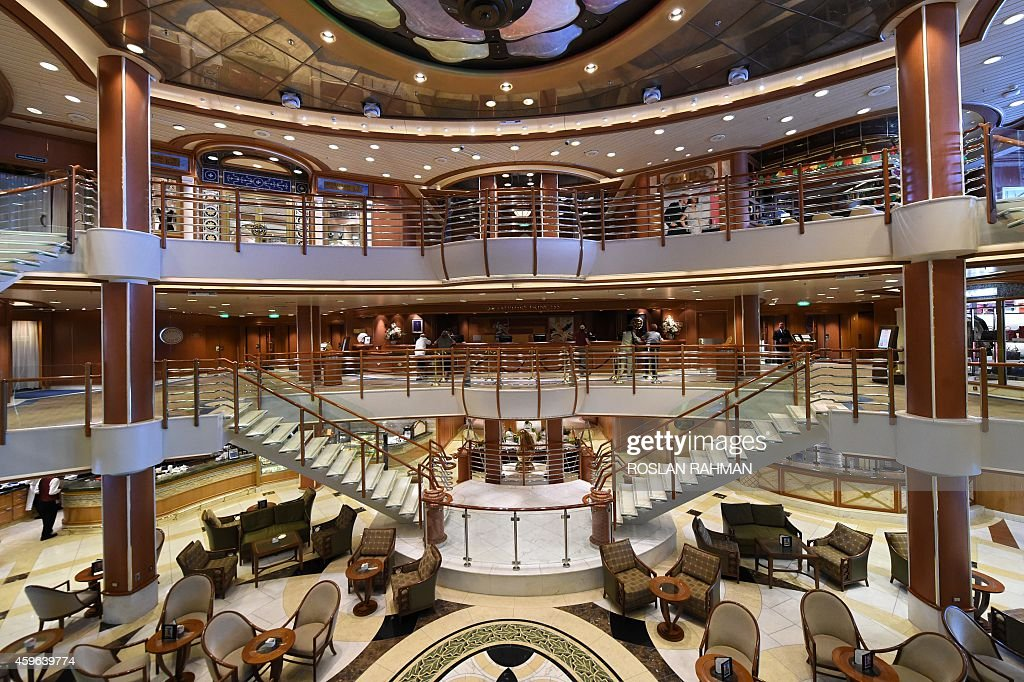 A View Inside The Sapphire Princess Cruise Ship Docked At The Marina Pictures Getty Images