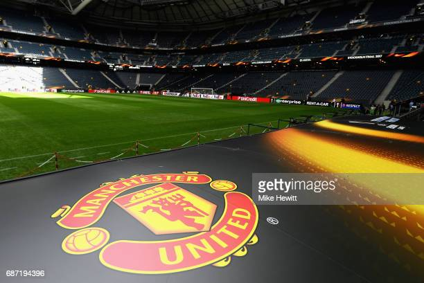 A view inside the stadium ahead of The UEFA Europa League Final between Ajax and Manchester United at Friends Arena on May 23 2017 in Stockholm Sweden
