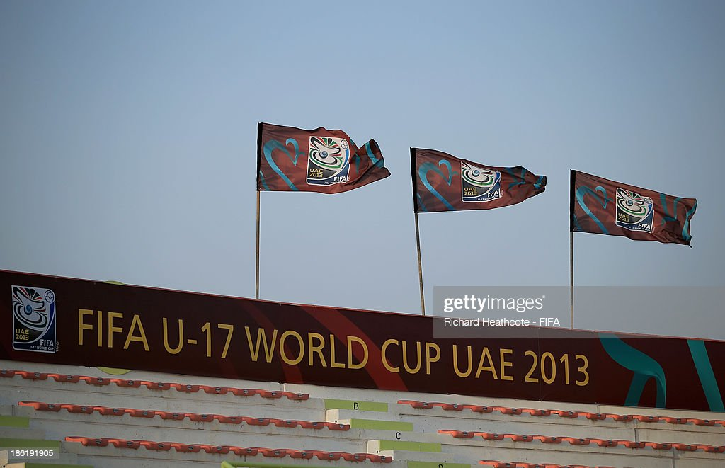 A view inside the stadium before the FIFA U-17 World Cup UAE 2013 round of 16 match between Argentina and Tunisia at the Rashid Stadium on October 29, 2013 in Dubai, United Arab Emirates.