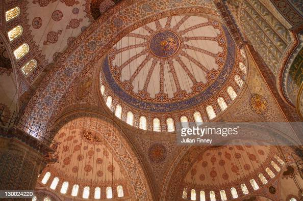 A view inside the Sultanahmet Mosque during previews for the WTA Championships 2011 on October 23 2011 in Istanbul Turkey