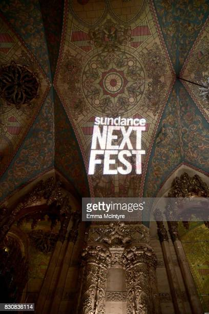 A view inside the theater at 2017 Sundance NEXT FEST at The Theater at The Ace Hotel on August 12 2017 in Los Angeles California