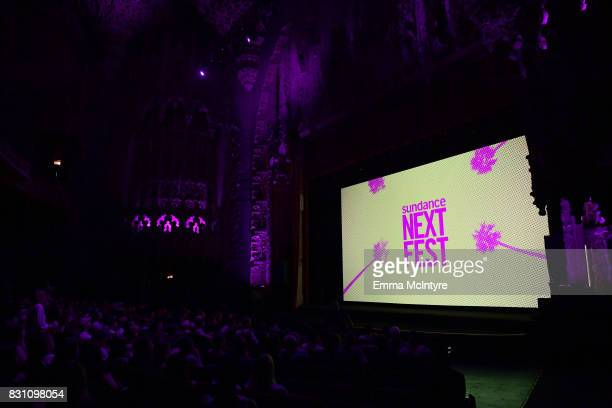 A view inside the theater at 2017 Sundance NEXT FEST at The Theater at The Ace Hotel on August 13 2017 in Los Angeles California