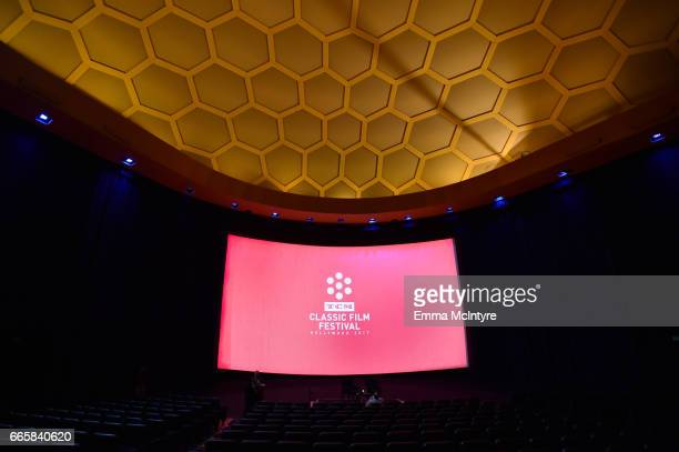A view inside the theatre during the screening of 'It's a Mad Mad Mad Mad World' during the 2017 TCM Classic Film Festival on April 7 2017 in Los...