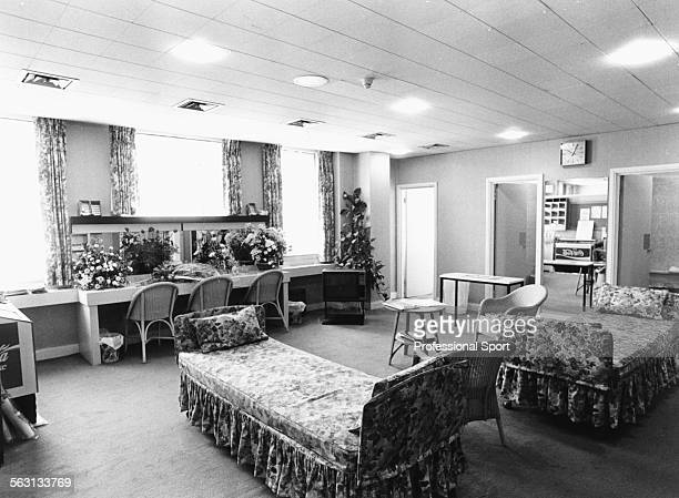 View inside the women's or ladies dressing rooms during Wimbledon Tennis Championships at the All England Club London 1987