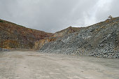 view into a quarry. mining industry