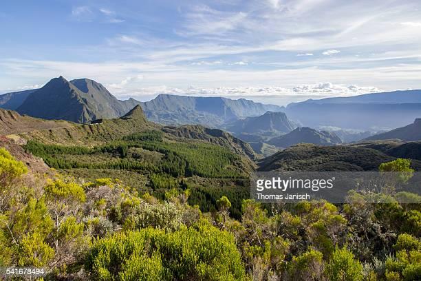 View into Cirque de Salazie from Col de Boeufs, La Réunion