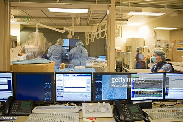 View into Heart Cateterization Procedure room